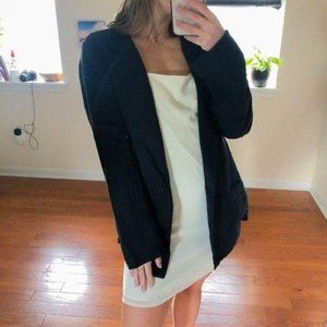 NSF Trudy Relaxed Double Breasted Blazer Navy L